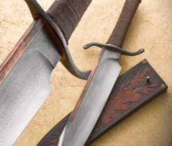 Bowie art knife from Wildertools by Rick Marchand