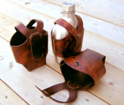 Canteen leather holder from Wildertools by Rick Marchand