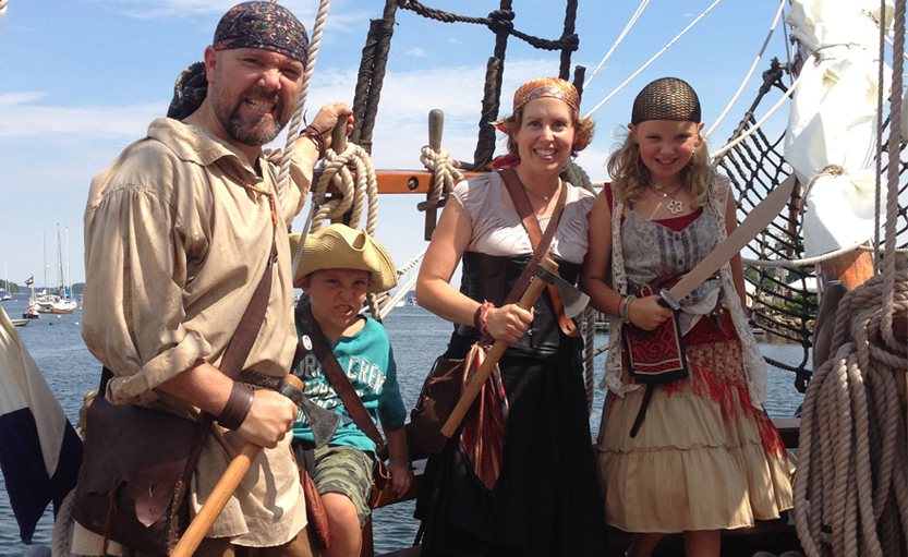 Marchand Family - Pirate Festival 2013
