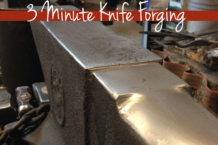 3 Minute Knife Forging by Rick Marchand from Wildertools